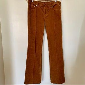 Tory Burch Tan Classic Corduroy Pants